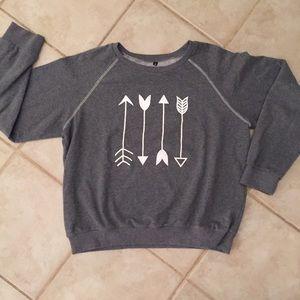 XL sweatshirt w/ arrows. Slightly cropped.